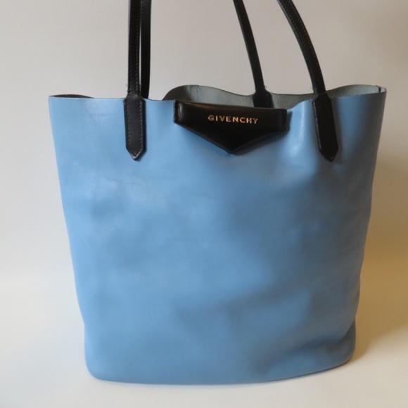 4691642f19c1 Givenchy Handbags - GIVENCHY ANTIGONA SHOPPER LEATHER TOTE-BLUE BLACK